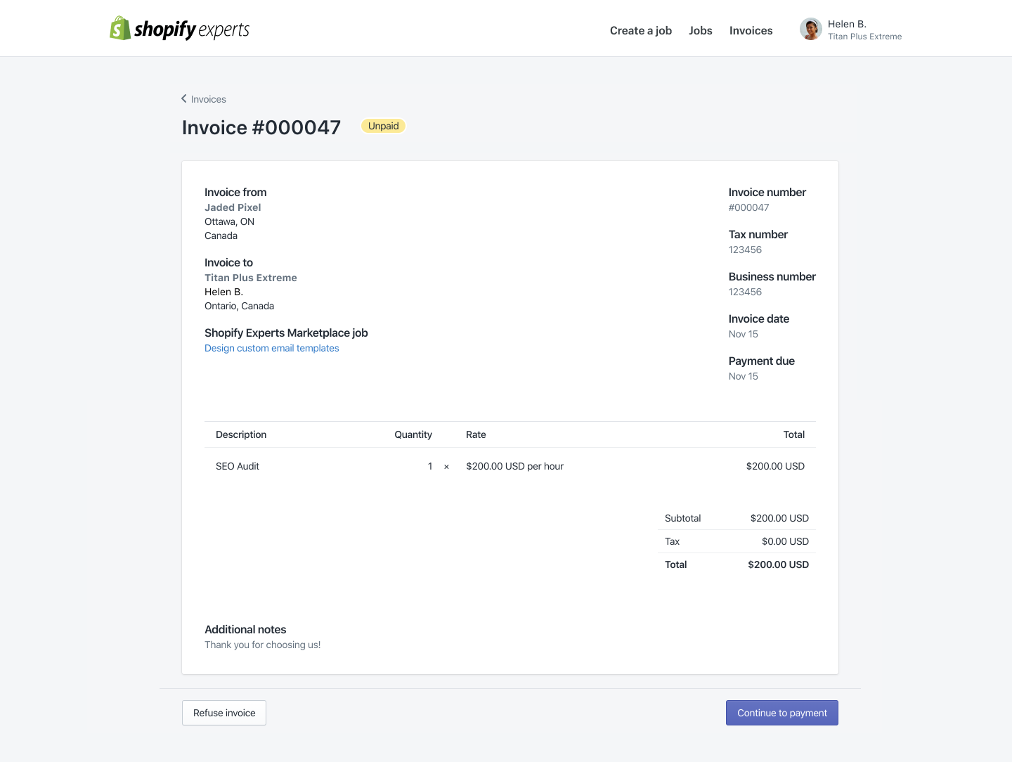 Payment Terms Shopify Expert