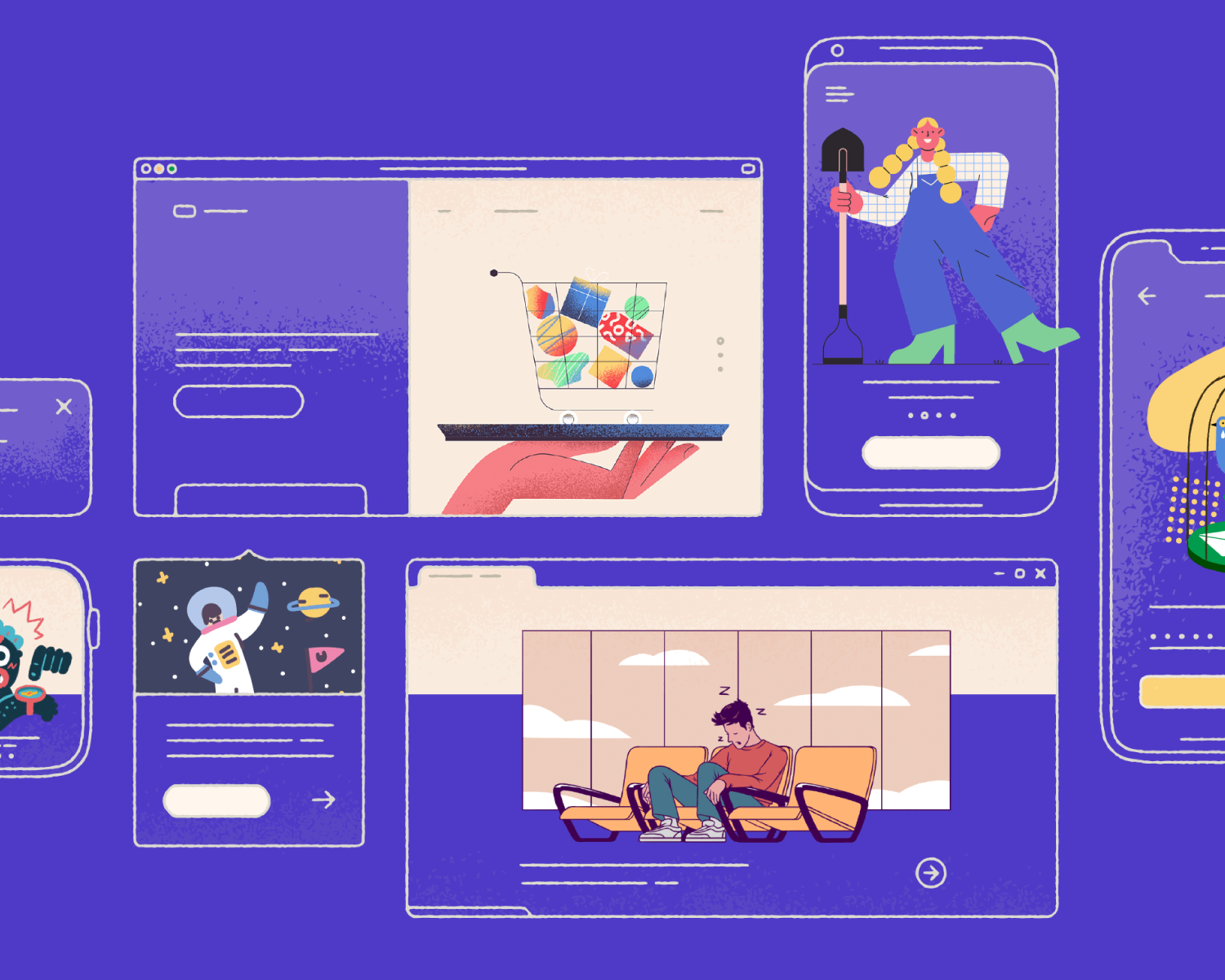 Create illustrations  For Shopify