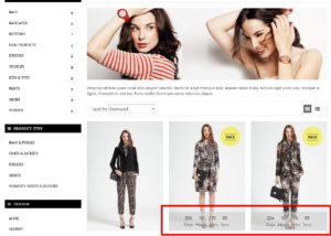 Shopify collection page design
