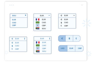 Add currency selector